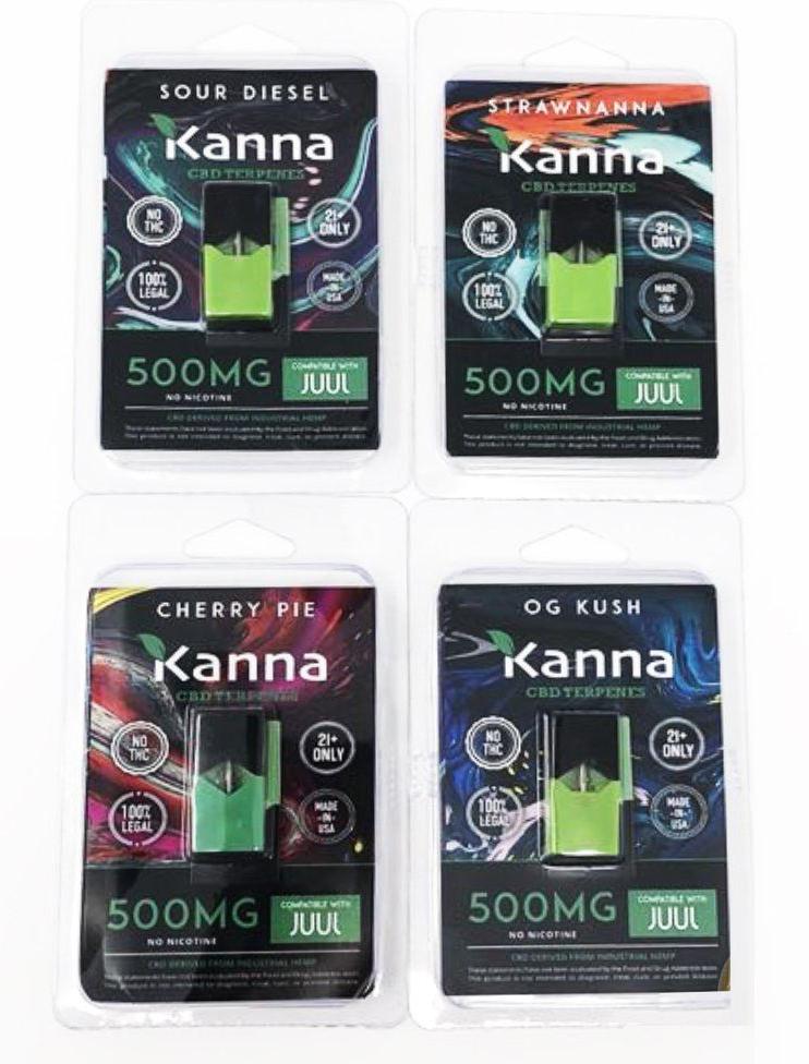 Kanna Green Oil CBD Pods Juul Compatible - 1 Pod 500mg